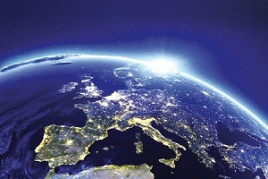 citylights from space
